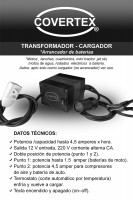 Arrancador Cargador Transformador 12 v a 220
