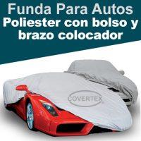 Funda cubre auto Poliester con bolso y brazo colocador incorporado – (Car Cover)