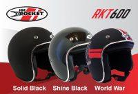 Casco Joe Rocket RKT 600 Solid Black / Shine Black / World War